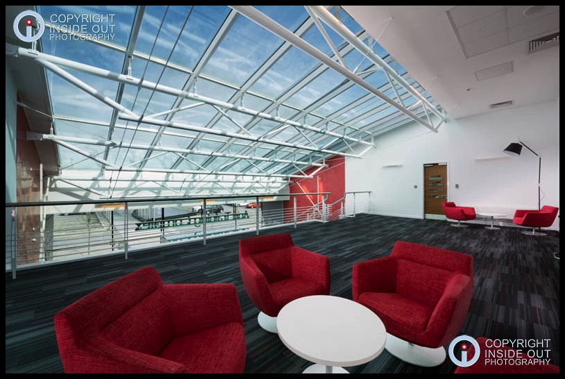 1st floor reception area Manchester United FC Carrington training ground.