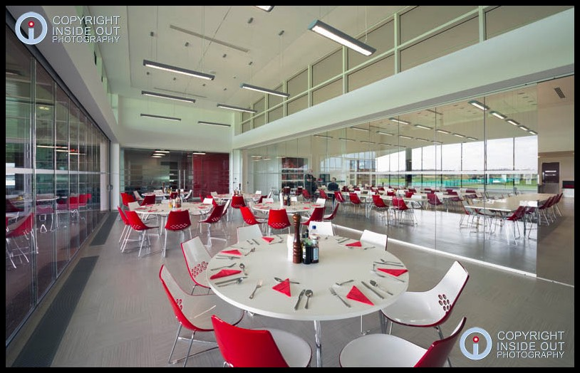 Dining area Manchester United FC Carrington training ground.