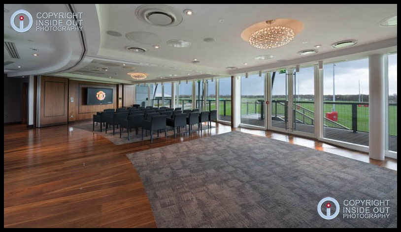 Interior of Jimmy Murphy Building Manchester United FC Carrington training ground.
