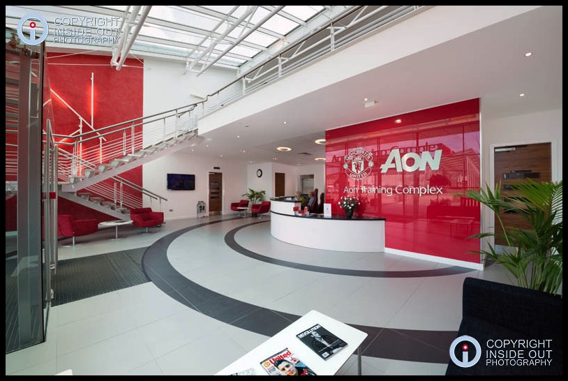 Reception area Manchester United FC Carrington training ground.