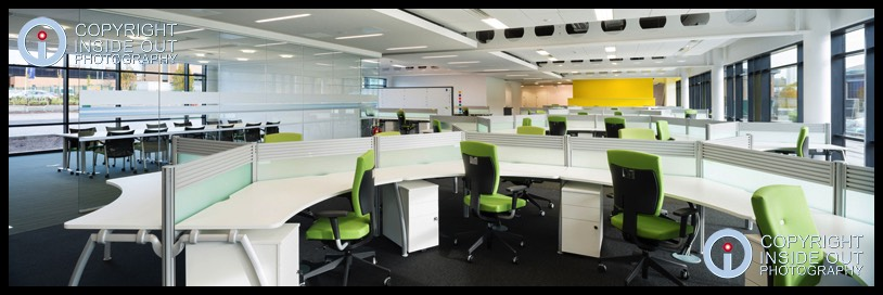 Panoramic view of Open Plan Office