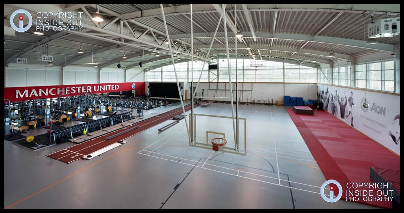 Players Gym Hall Manchester United FC Carrington training ground.
