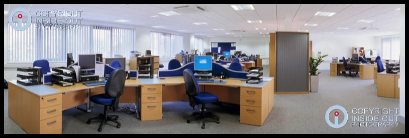 Open plan office, St John Ambulance NW HQ in Stockport.
