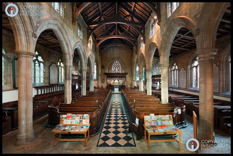 Interior of Medieval Church, Tideswell Derbyshire
