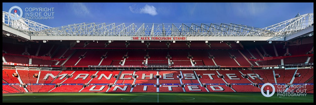 -Ultra-High View of North Stand Old Trafford.