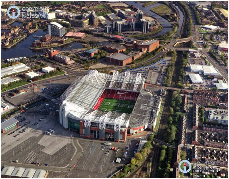 Aerial view of Manchester United FC Ground - 2011