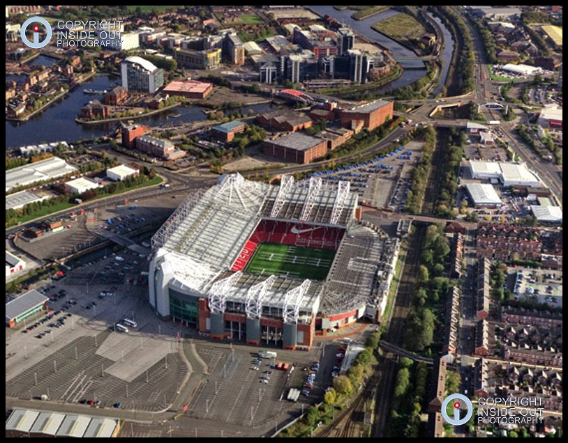 Aerial view of Manchester United