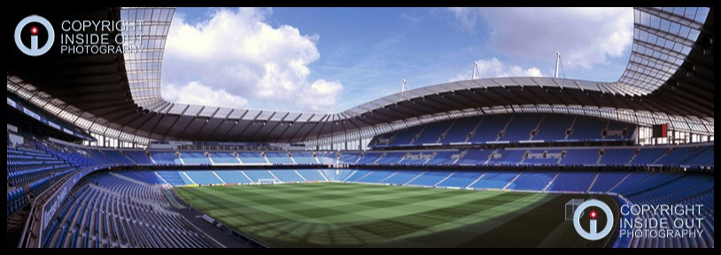 Panoramic view Manchester City Football Club