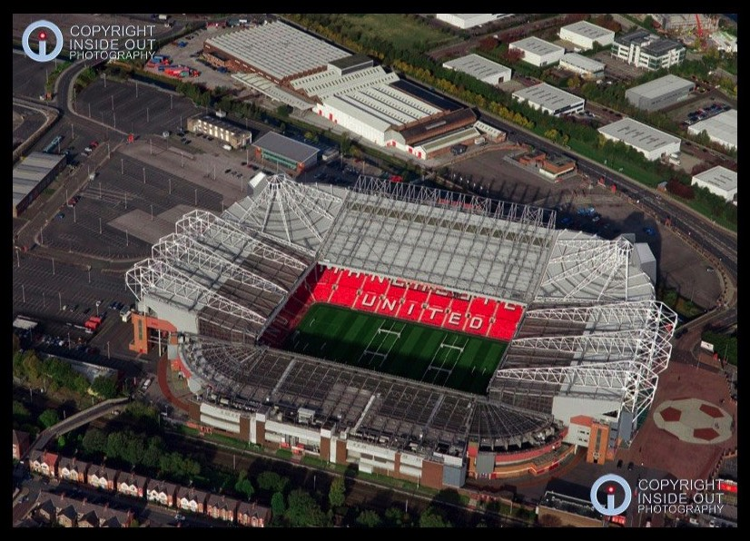 Aerial view of MUFC Old Trafford Ground